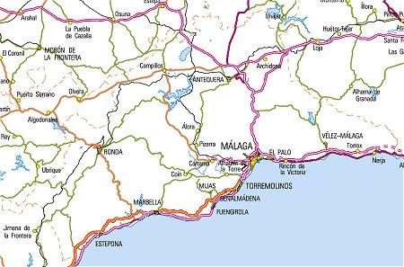 Mapa Turistico De Malaga.Malaga Rutas Turisticas