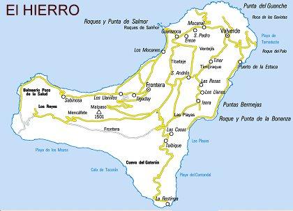 Mapa De El Hierro.Rutas Turisticas De La Isla El Hierro
